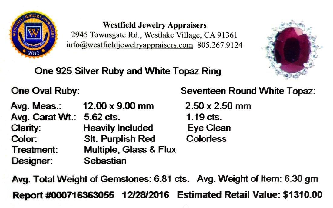 APP: 1.3k Fine Jewelry Designer Sebastian, 6.81CT Ruby - 2