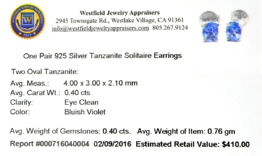 APP: 0.4k Fine Jewelry 0.40CT Oval Cut Tanzanite And - 2