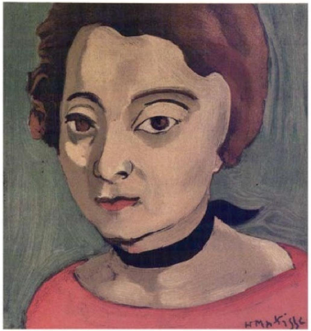 Henri Matisse ''''121 Head With Black Velvet Ribbon''''