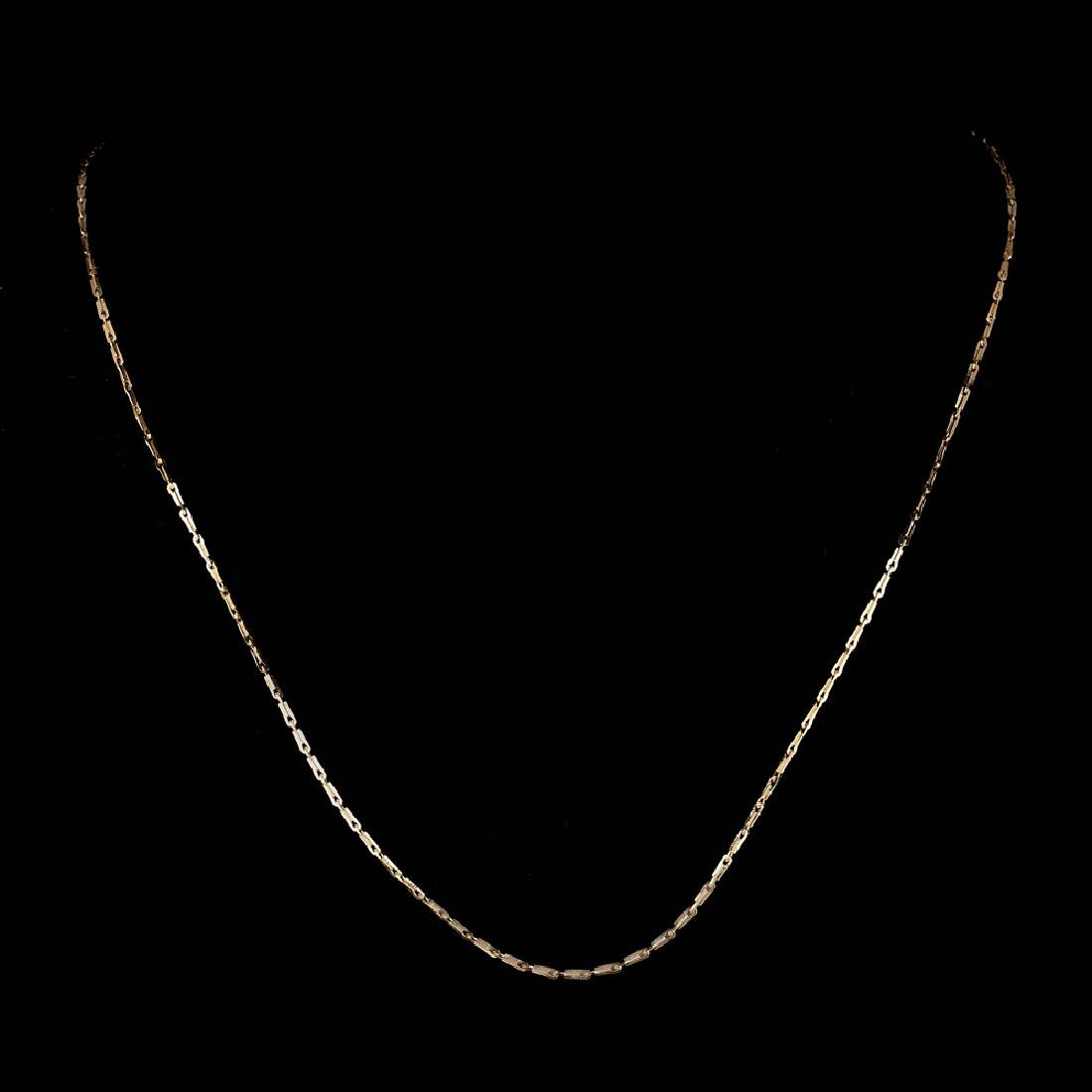*Fine Jewelry 14 KT Gold, 2.1GR, 18'' Pinsetta Chain