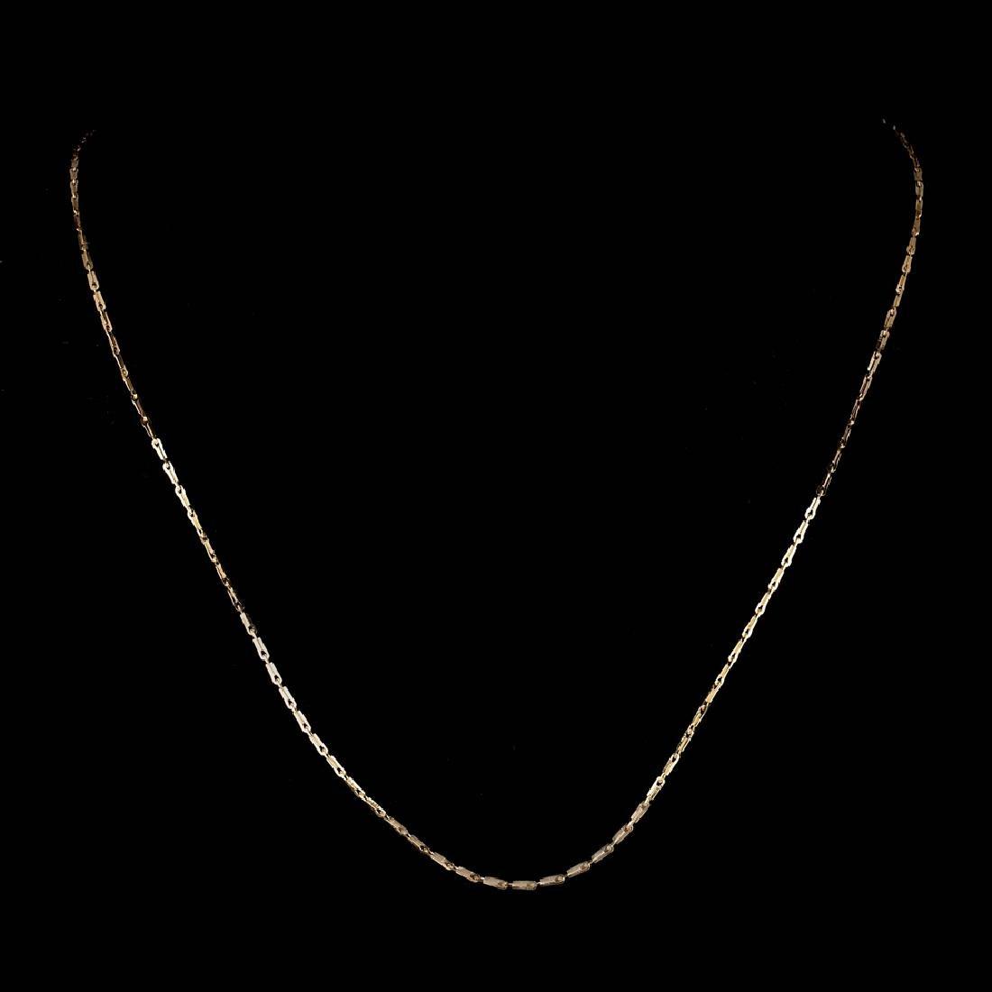 *Fine Jewelry 14 KT Gold, 2.1GR, 18'' Pinsetta Chain