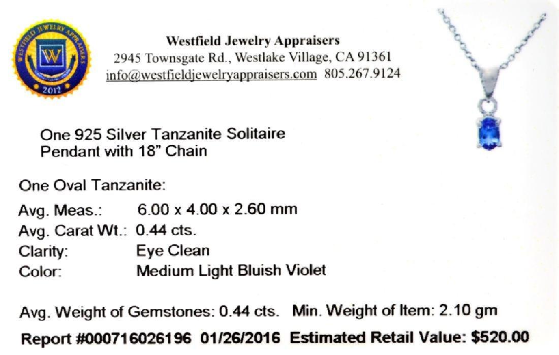 APP: 0.5k Fine Jewelry 0.44CT Oval Cut Tanzanite Over - 2