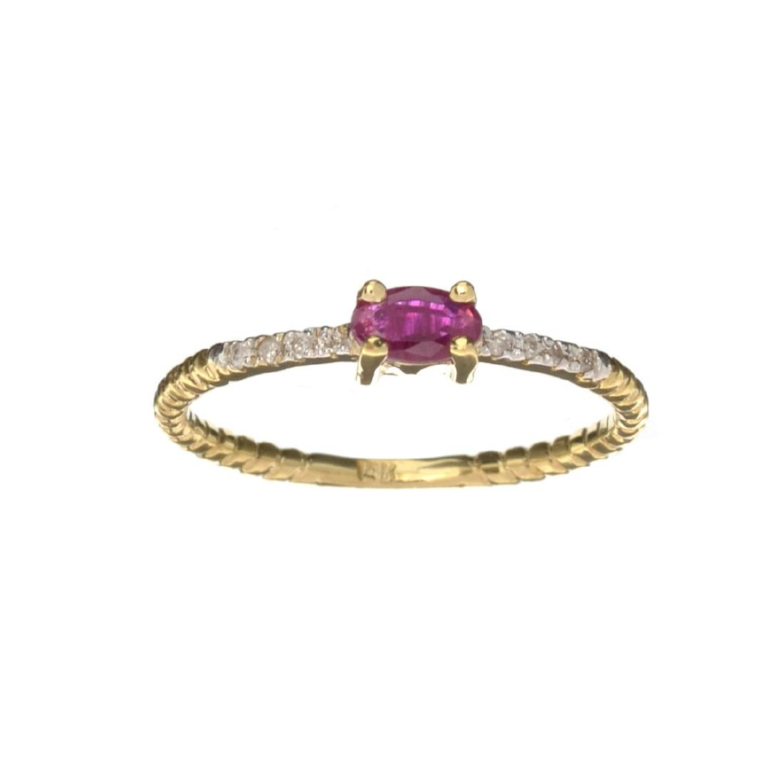 APP: 0.6k Fine Jewelry 14 KT Gold, 0.26CT Ruby And