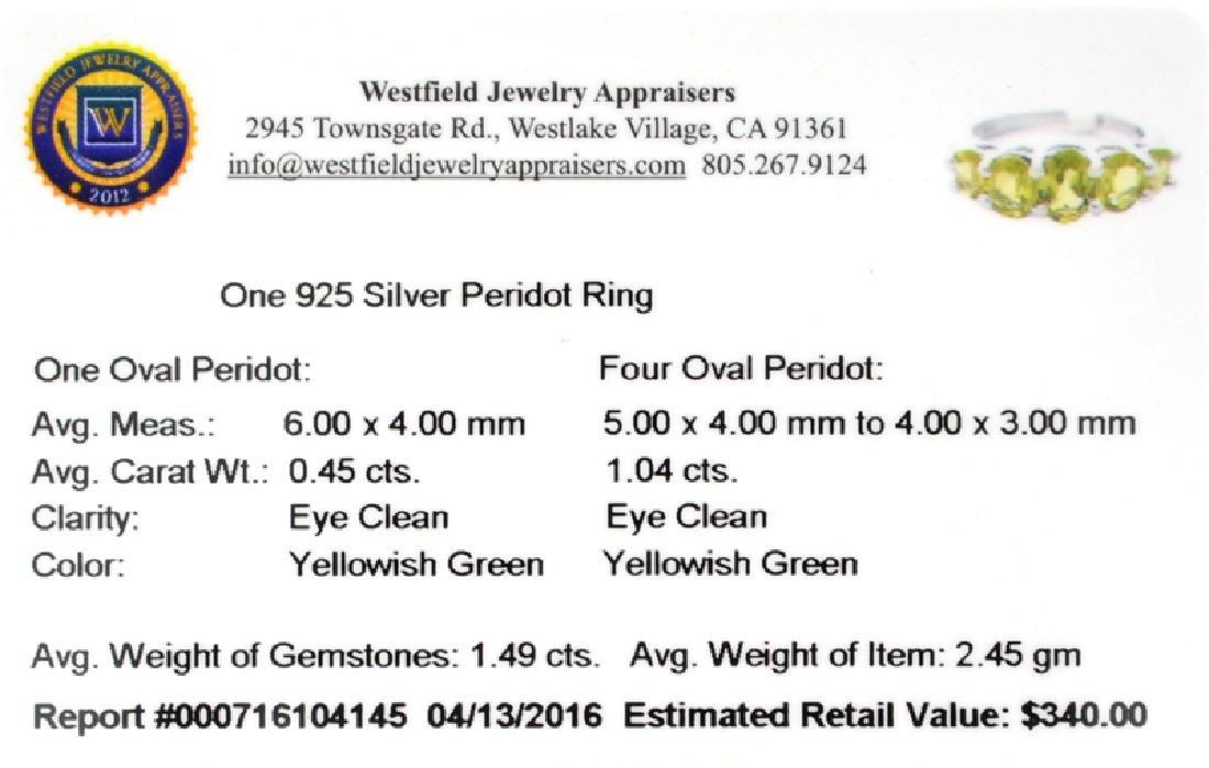 APP: 0.3k Fine Jewelry 1.49CT Oval Cut Green Peridot - 2