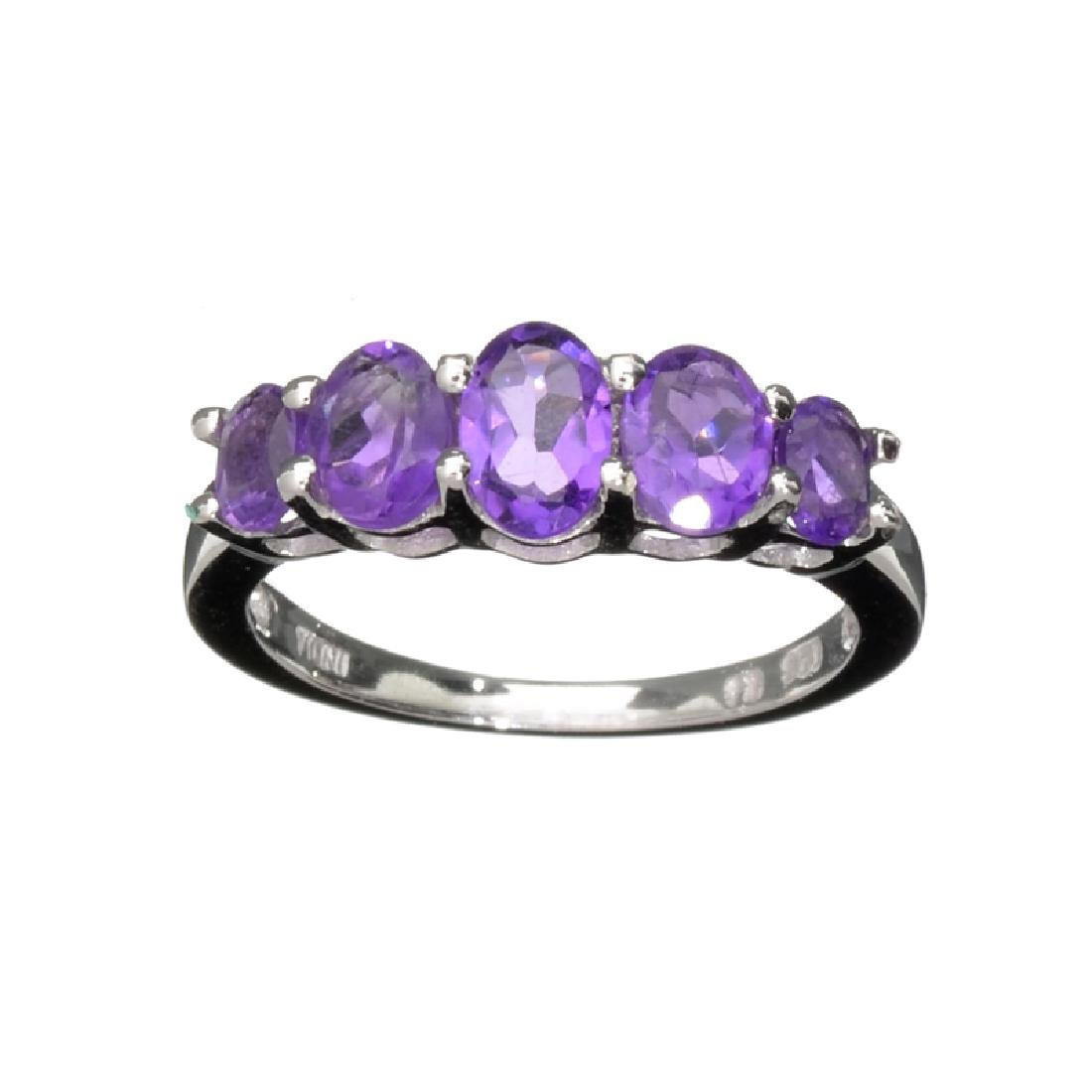 APP: 0.8k Fine Jewelry 1.75CT Oval Cut Purple Amethyst