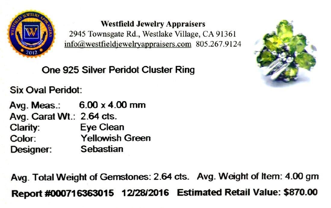 Fine Jewelry Designer Sebastian 2.64CT Oval Cut Green - 2