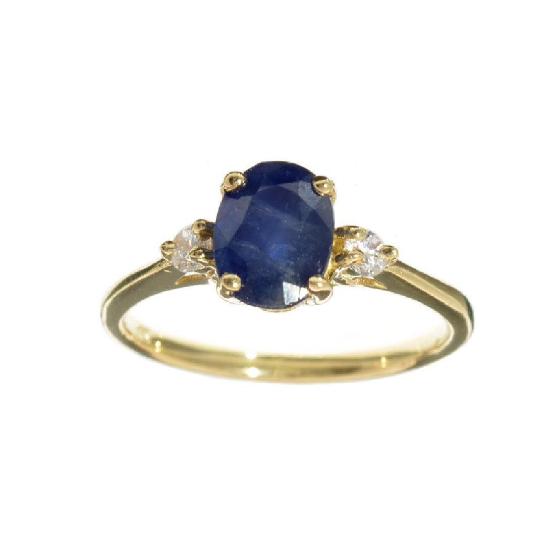 APP: 1k Fine Jewelry 14 KT Gold, 1.61CT Blue And White