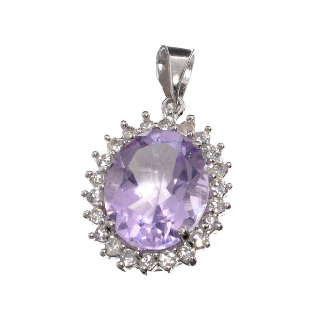 APP: 0.6k Fine Jewelry 3.40CT Purple Amethyst And White