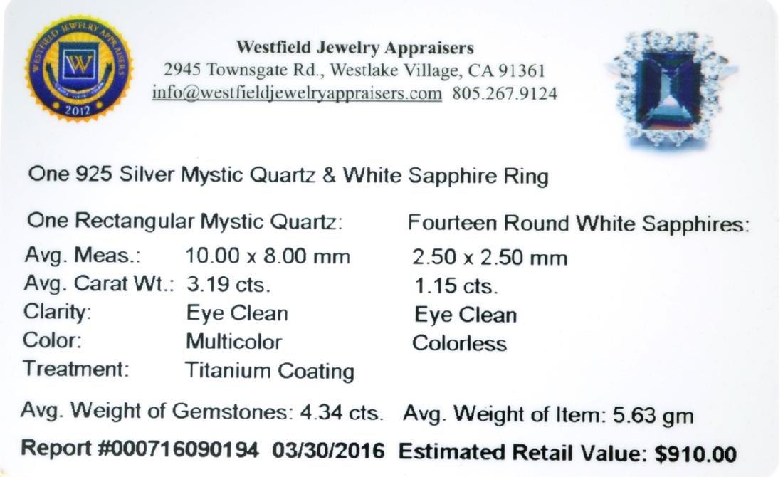 APP: 0.9k Fine Jewelry 4.34CT Multicolor Mystic Quartz - 2