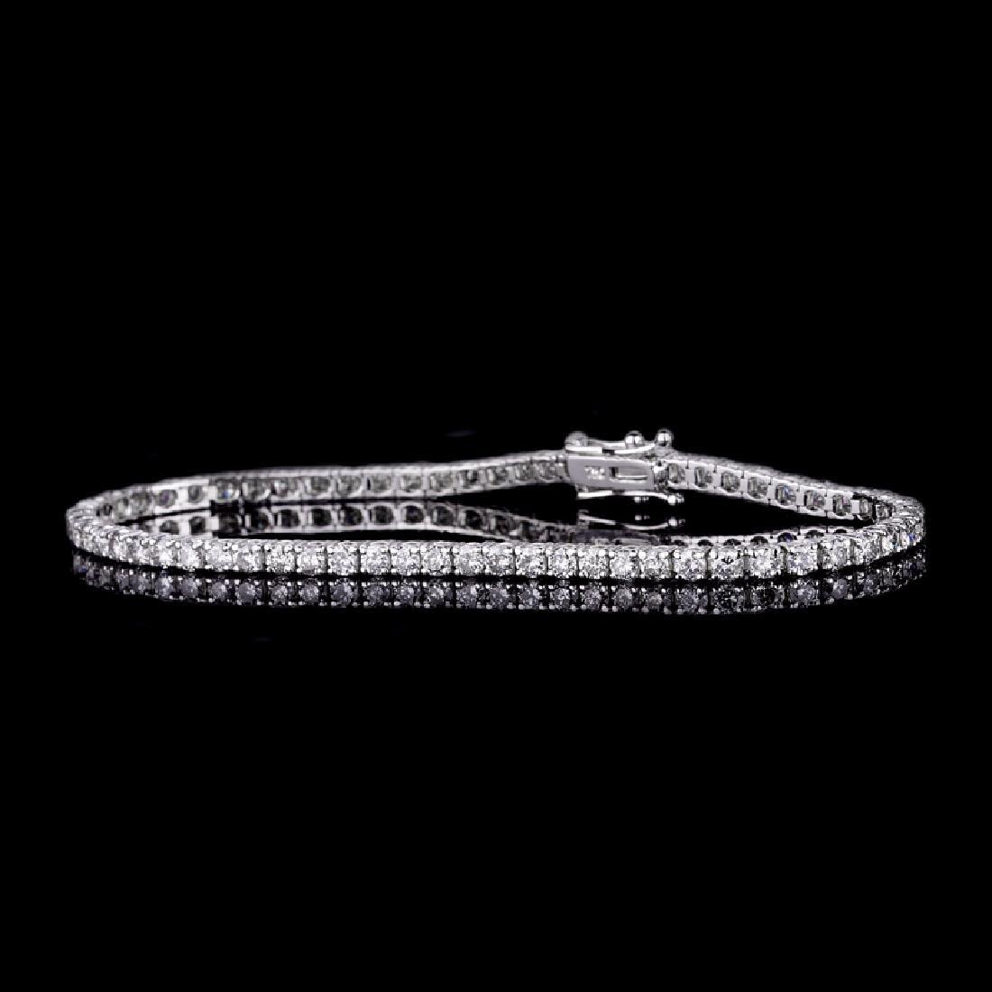 *Fine Jewelry 18 kt. White Gold, Custom Made 4.03CT