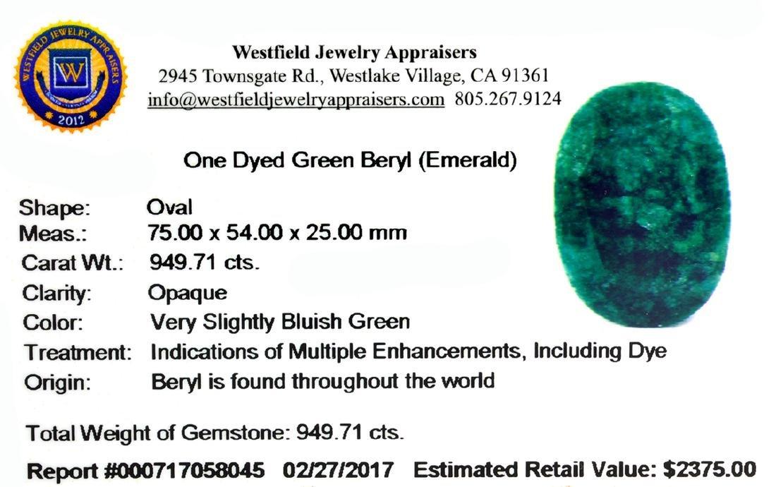 APP: 2.4k Very Rare Large Beryl Emerald 949.71CT - 2