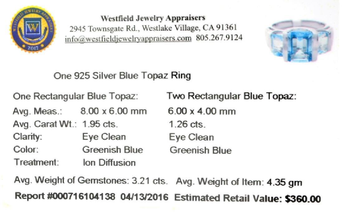 APP: 0.4k Fine Jewelry 3.21CT Rectangular Cut Blue - 2