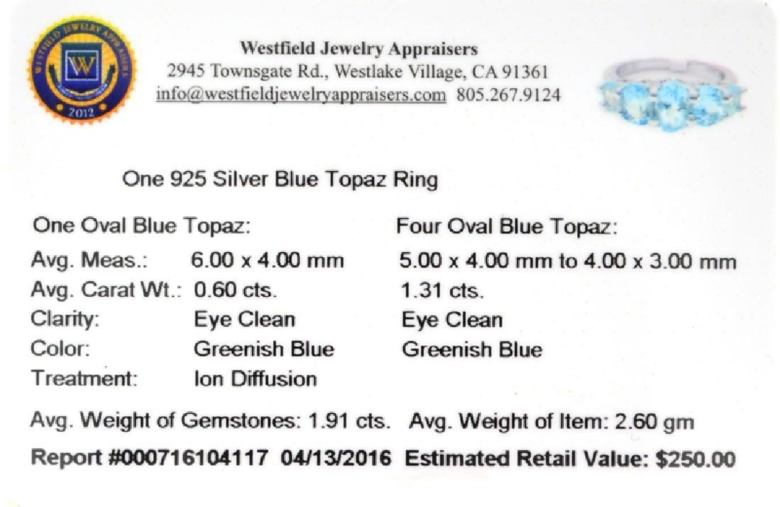 APP: 0.2k Fine Jewelry 1.91CT Oval Cut Blue Topaz And - 2