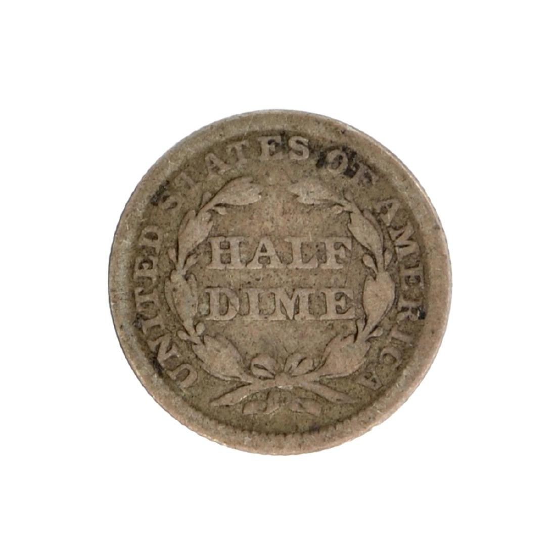 1852 Liberty Seated Half Dime Coin - 2