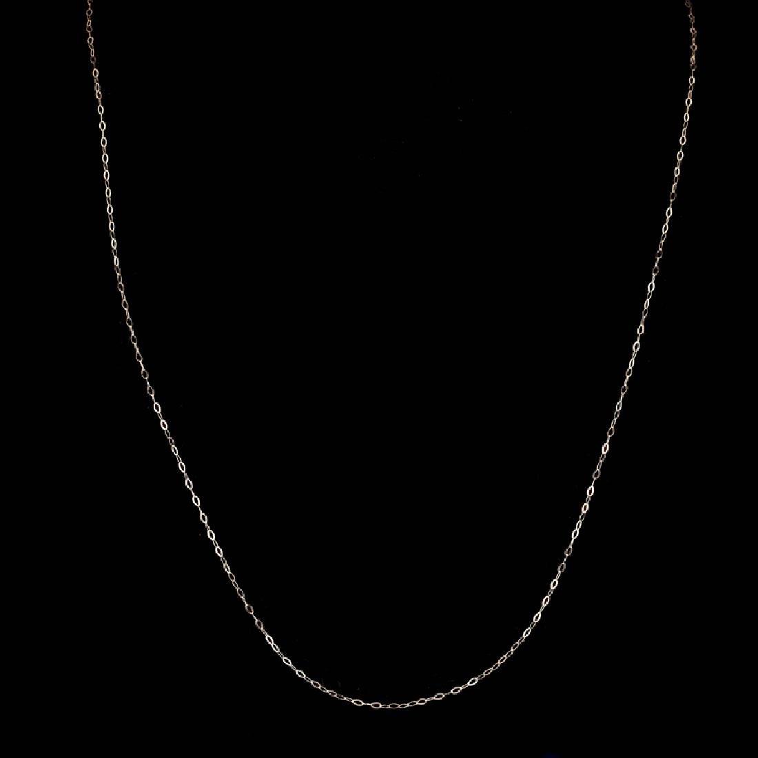 *Fine Jewelry 14 KT White Gold, 18'' Diamond Cut Link