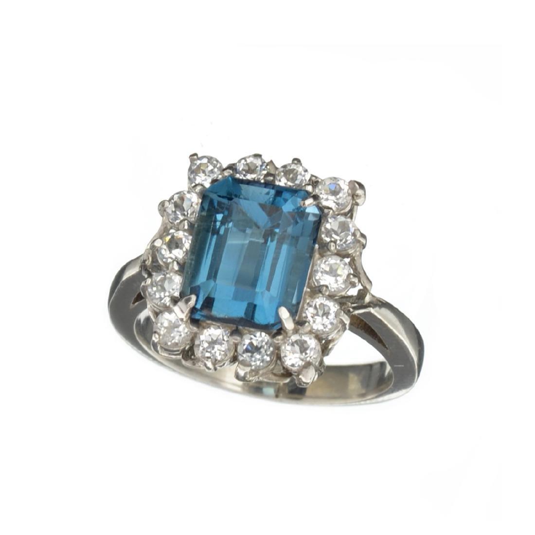 APP: 1k Fine Jewelry 6.23CT Blue Topaz And White