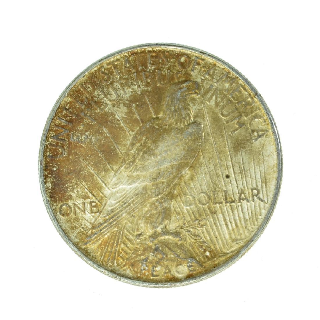 1922 Peace Silver Dollar Coin - 2