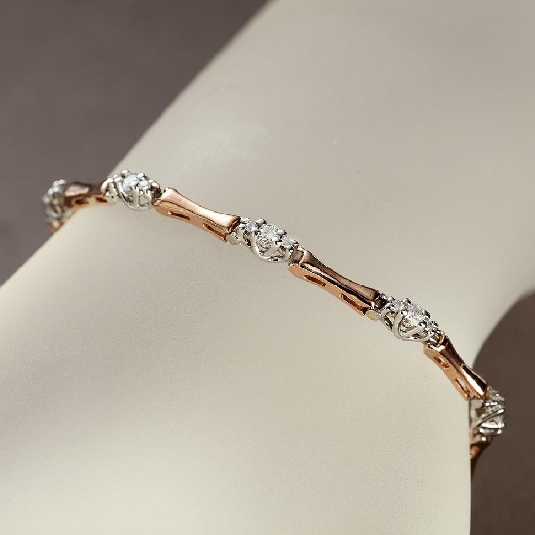APP: 4.2k *Fine Jewelry 14 KT Two Tone Gold, 1.00CT