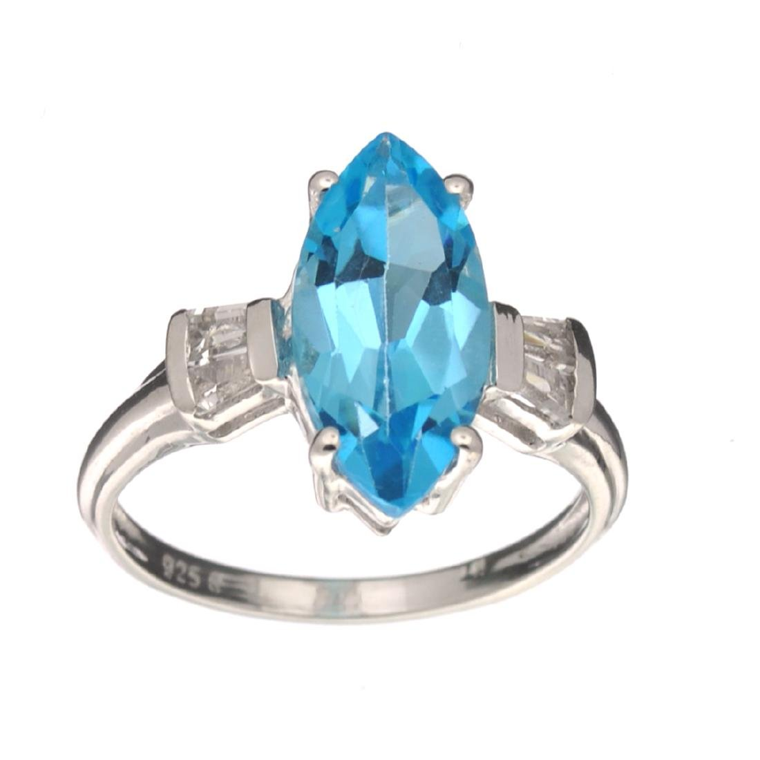 APP: 0.5k Fine Jewelry 3.20CT Marquise Cut Blue And