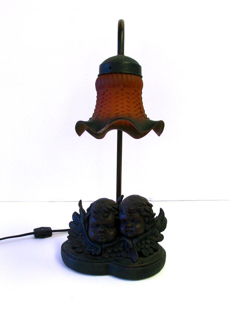 Double Cherub Lamp