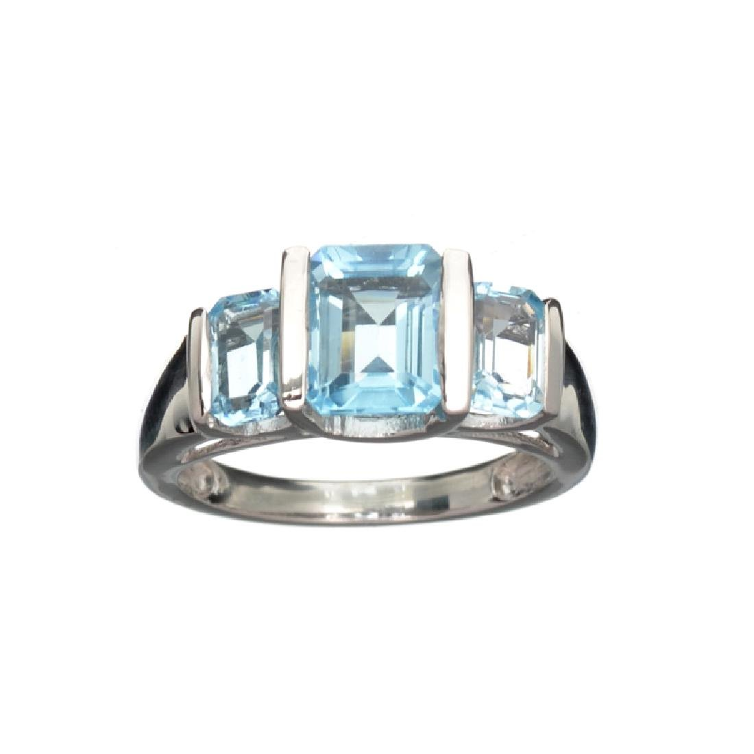 APP: 0.4k Fine Jewelry 3.21CT Rectangular Cut Blue