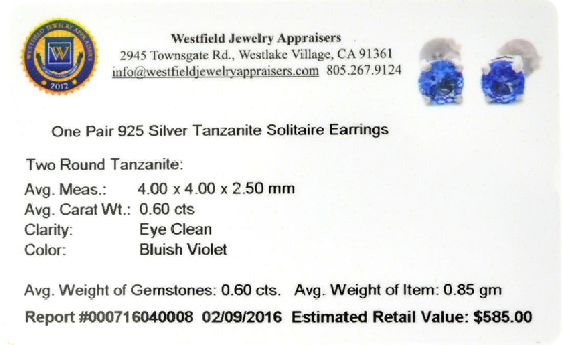 APP: 0.6k Fine Jewelry 0.60CT Tanzanite And Sterling - 2