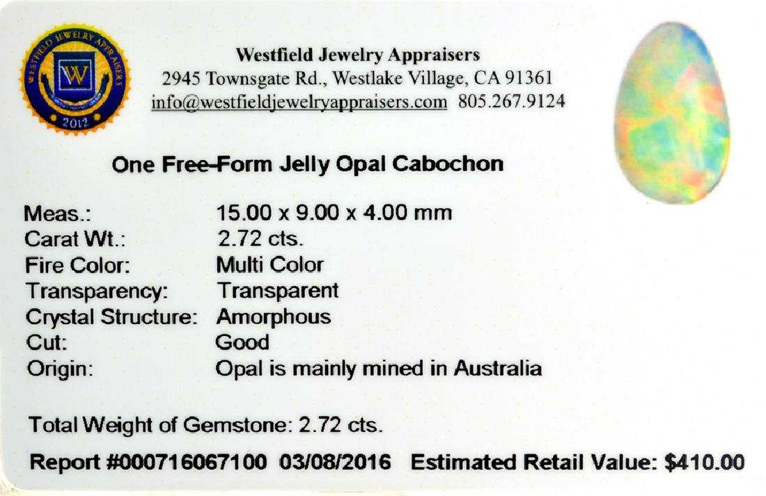 APP: 0.4k 2.72CT Free-Form Cabochon Multi Color Jelly - 2