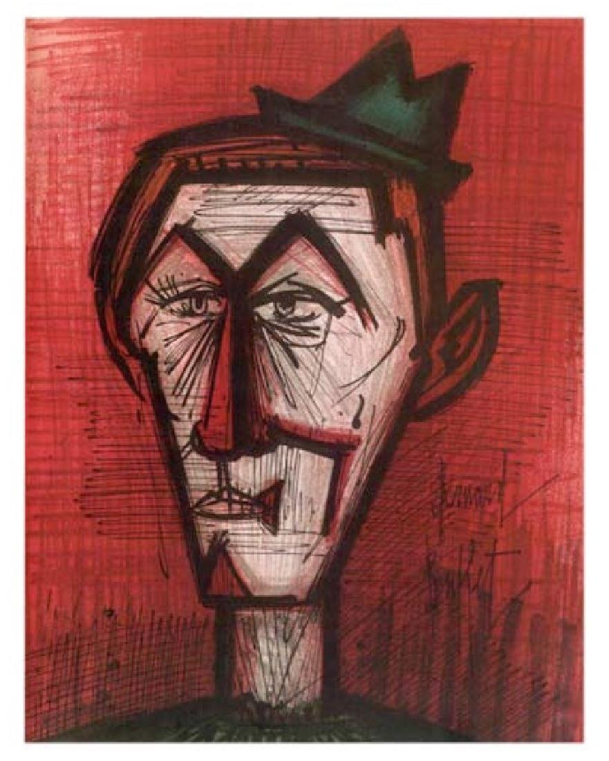 Bernard Buffet Lithograph ''''Le Clown Au Fond