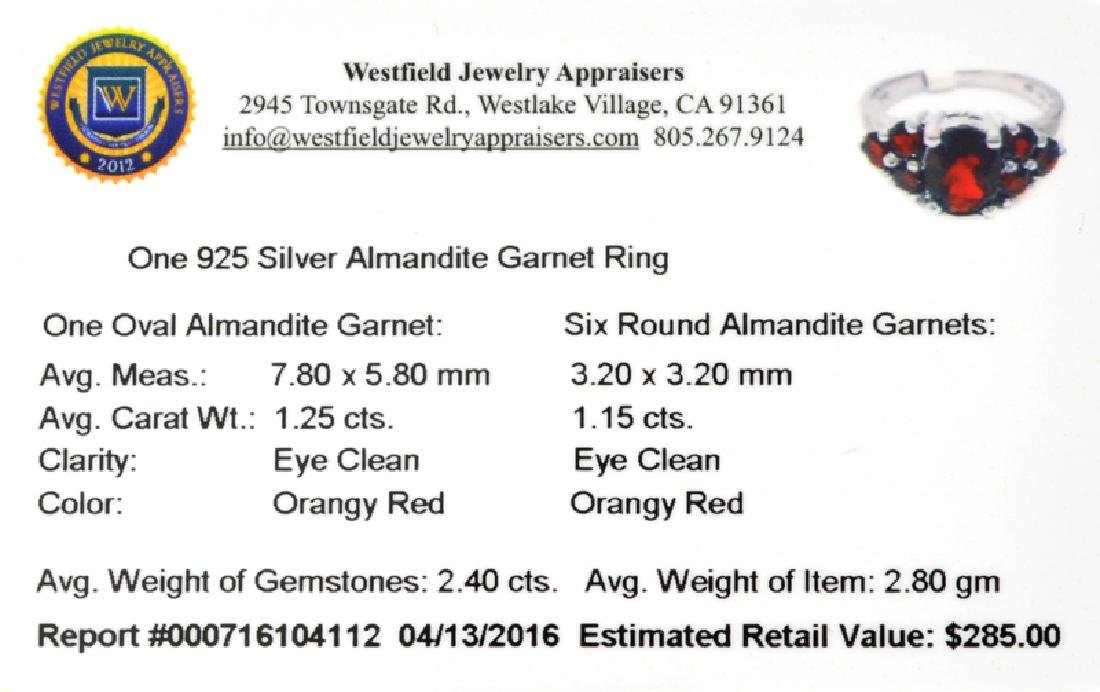 APP: 0.3k Fine Jewelry 2.40CT Almandite Garnet And - 2
