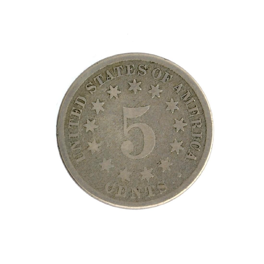 1882 Shield Nickel Coin - 2