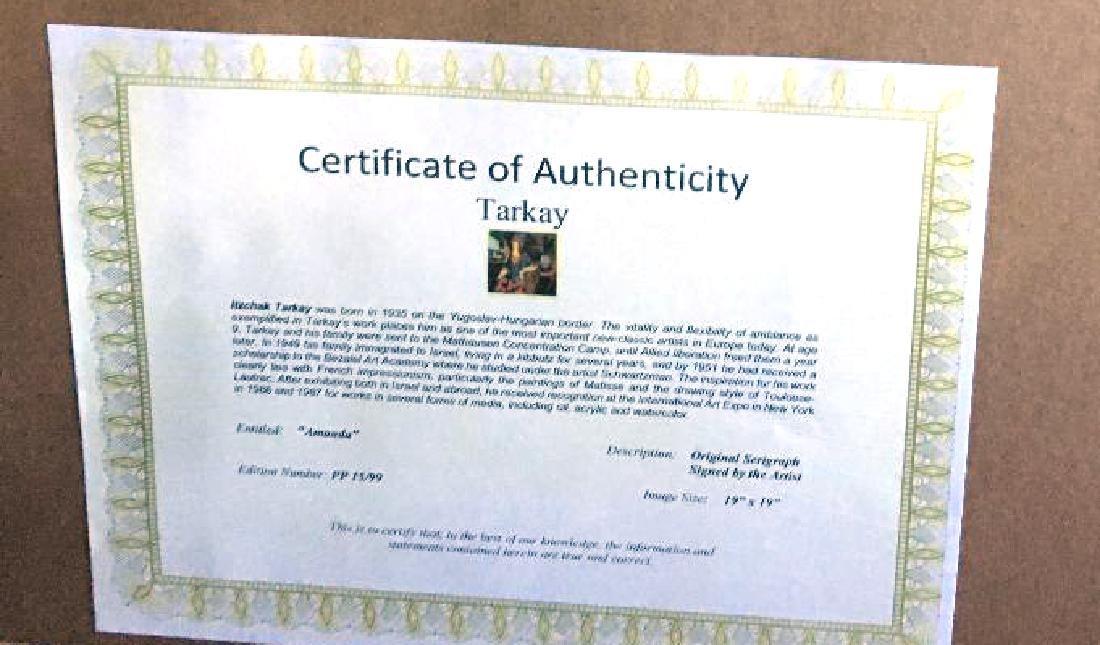 Tarkay- Framed Lithograph-Signature ''''Amanda'''' - 2