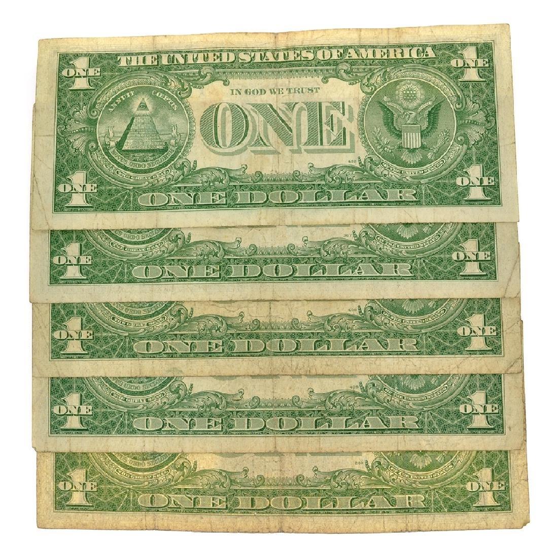 Nice (5) 1957 $1 U.S. Silver Certificates - 2