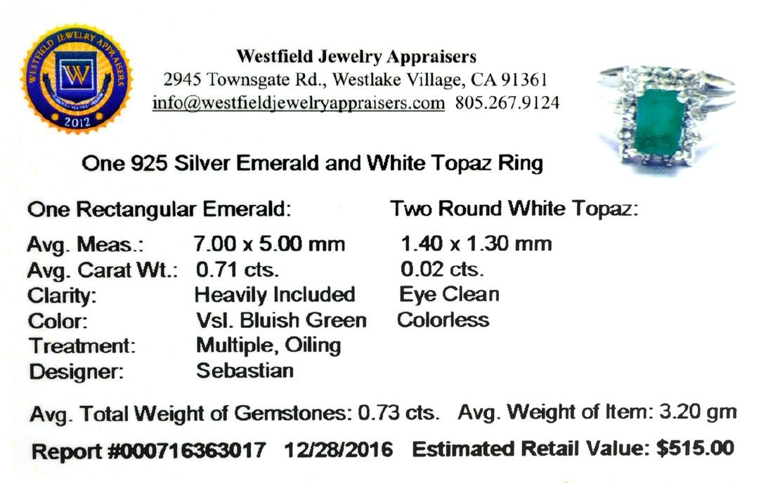 APP: 0.5k Fine Jewelry Designer Sebastian, 0.73CT Green - 2