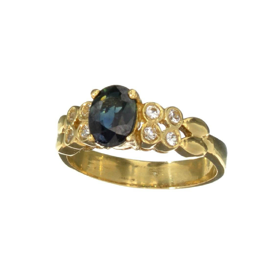 APP: 1.3k 14 kt. Gold, 1.21CT Bue And White Sapphire