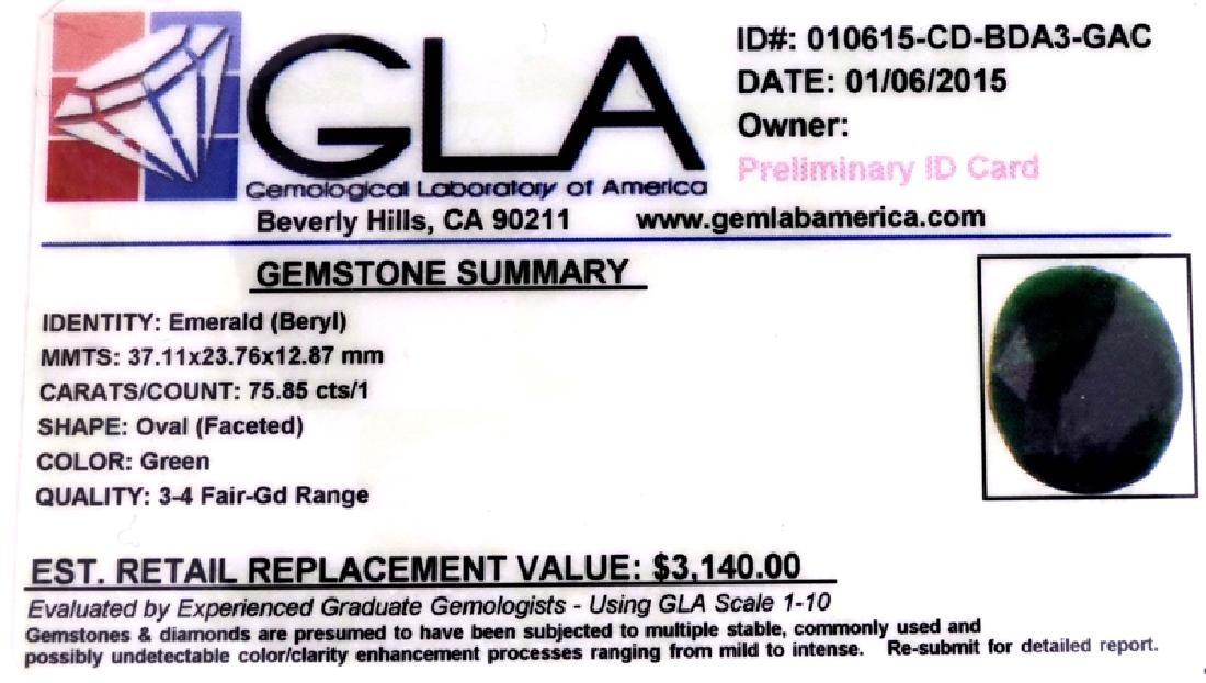 APP: 3.1k 75.85CT Oval Cut Green Beryl Emerald Gemstone - 3