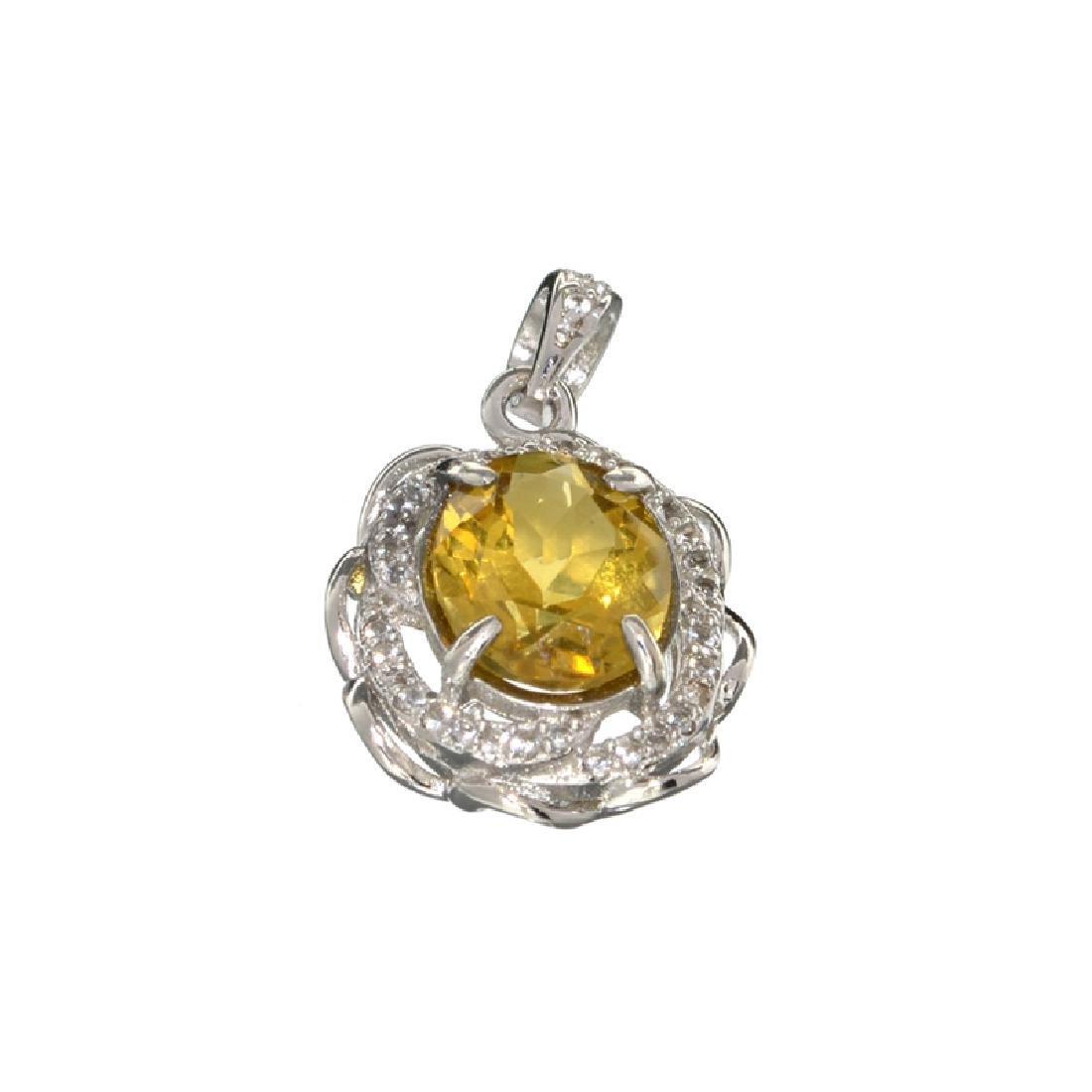 APP: 0.9k Fine Jewelry 3.00CT Oval Cut Citrine/White