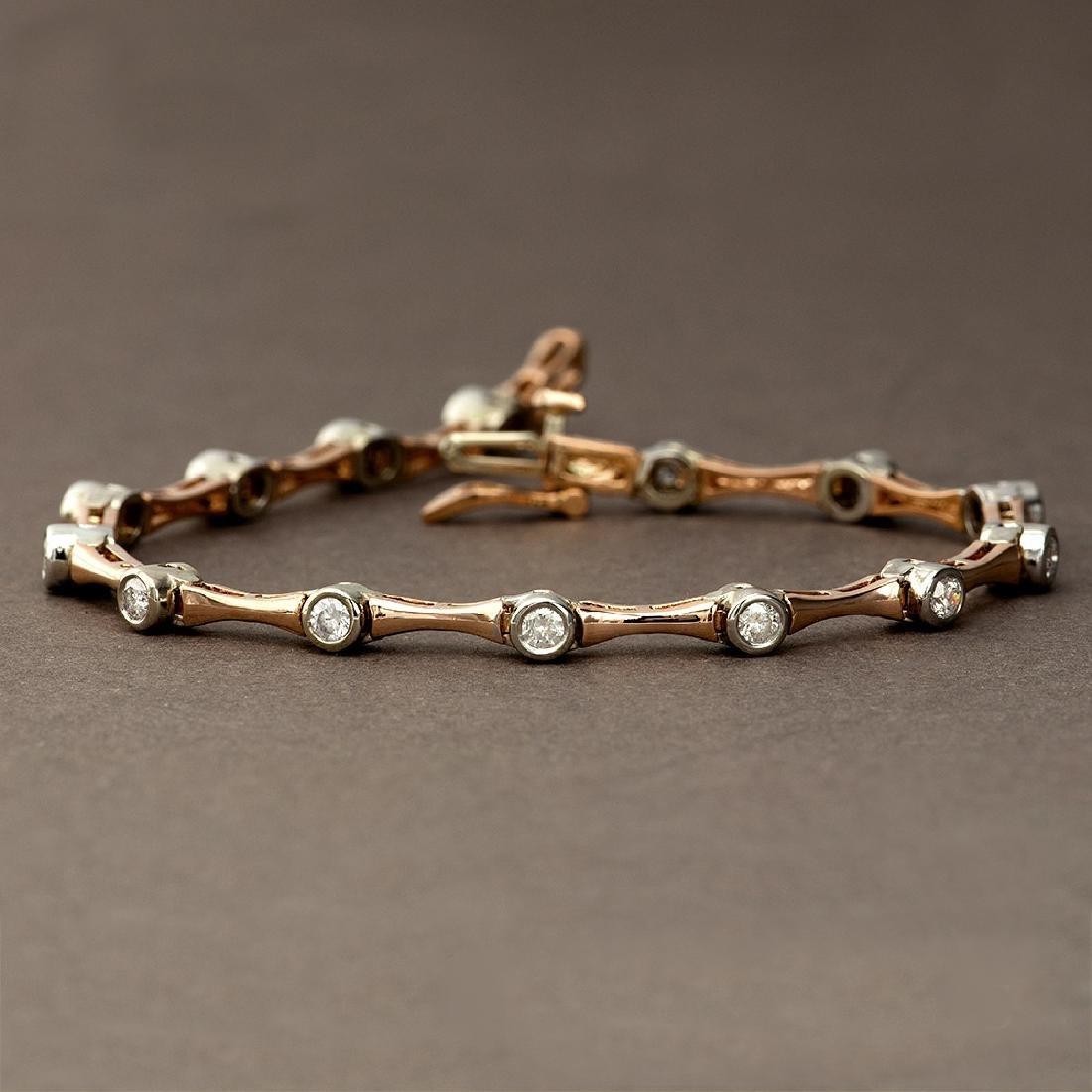 APP: 4.8k *Fine Jewelry 14 KT Two Tone Gold, 1.00CT