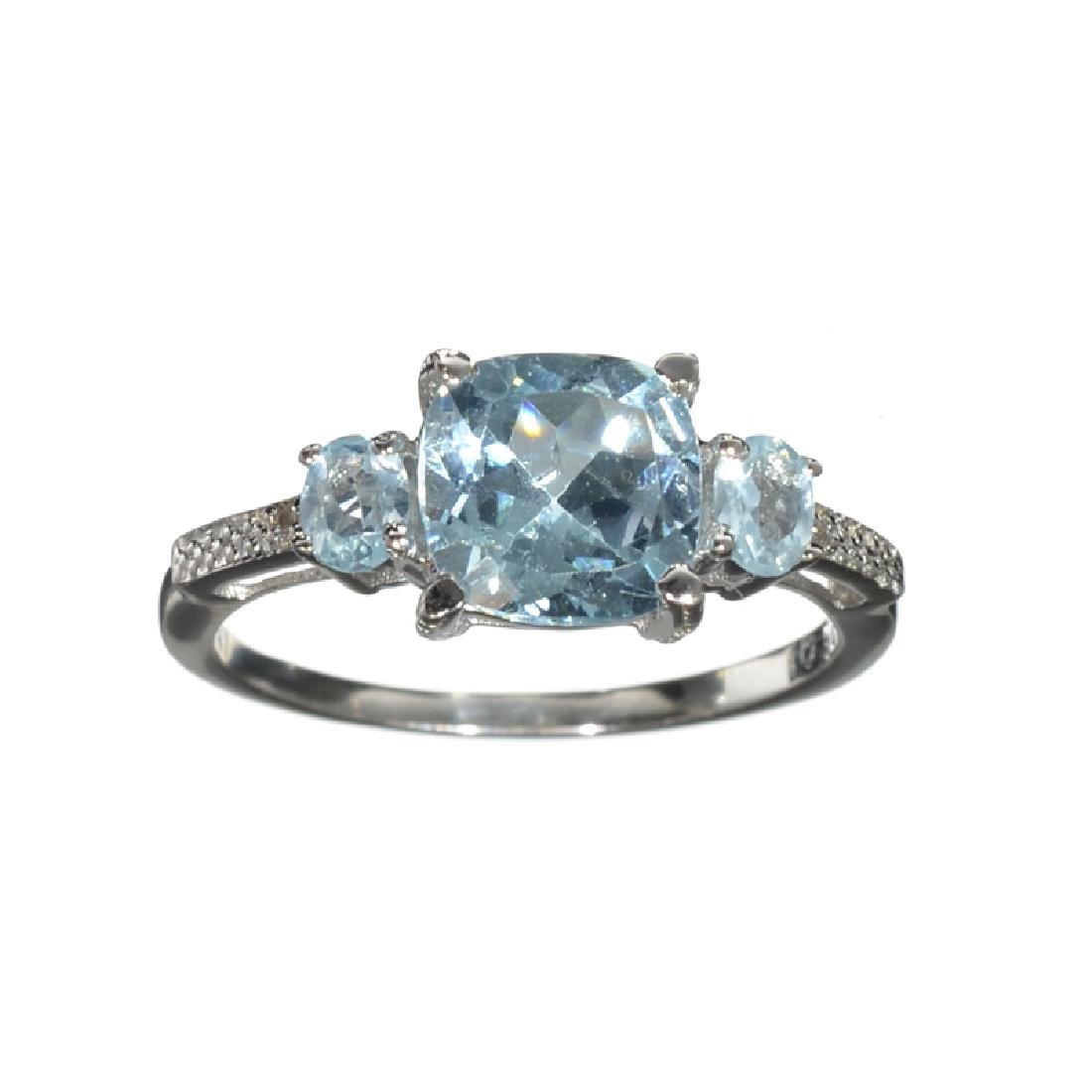 APP: 0.3k Fine Jewelry 2.91CT Blue Topaz And White