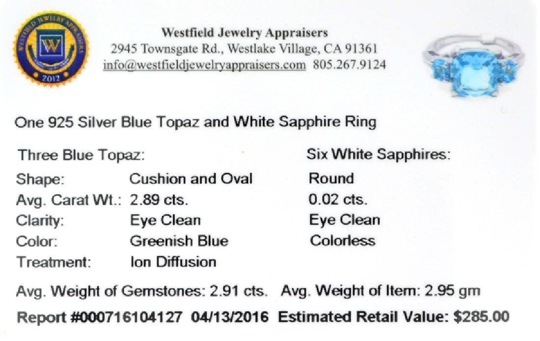 APP: 0.3k Fine Jewelry 2.91CT Blue Topaz And White - 2