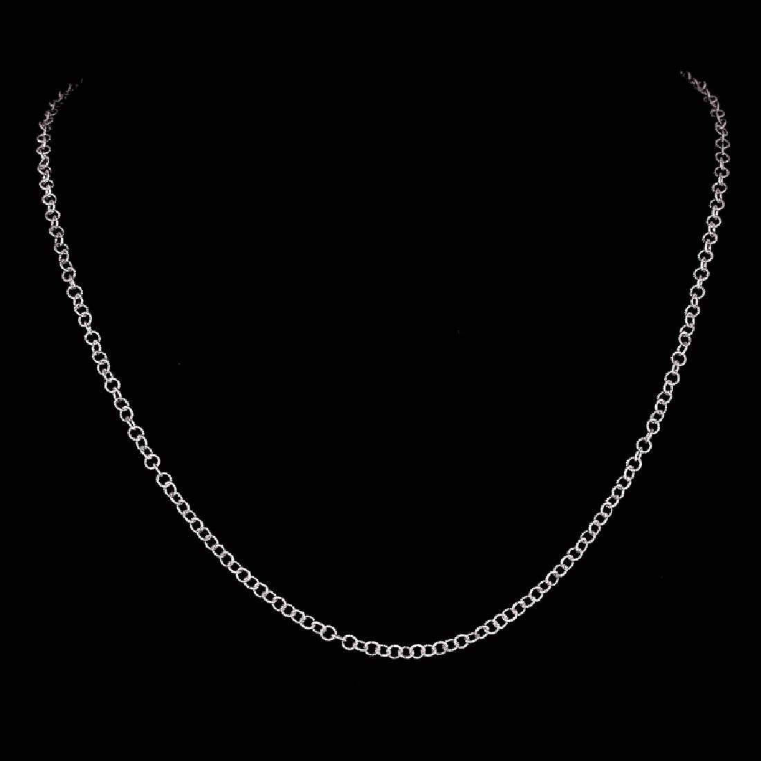 *Fine Jewelry 14 KT White Gold, 4.5GR, 18'' Medium
