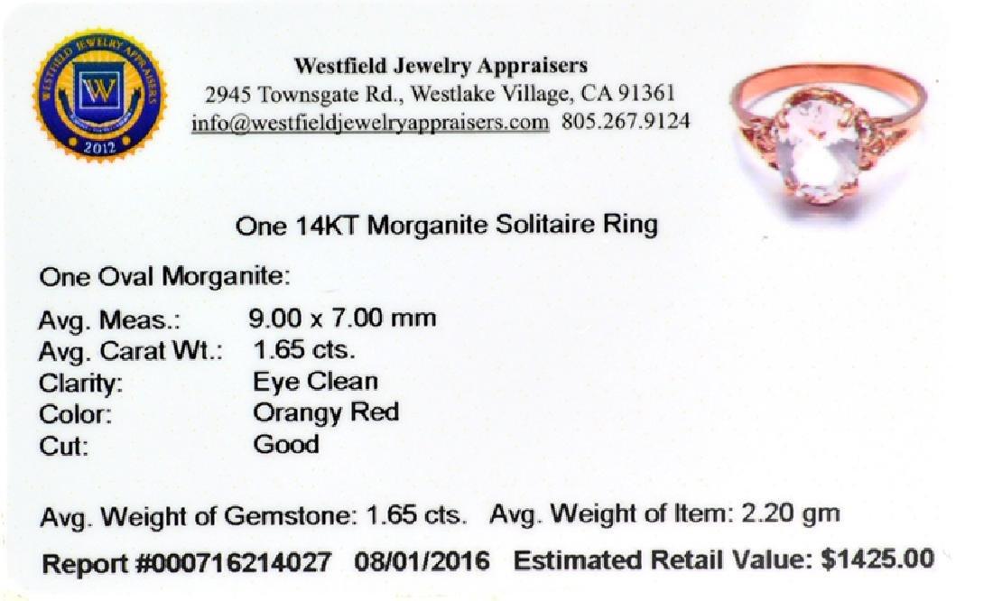 APP: 1.4k Fine Jewelry 14 KT Gold, 1.65CT Oval Cut - 2
