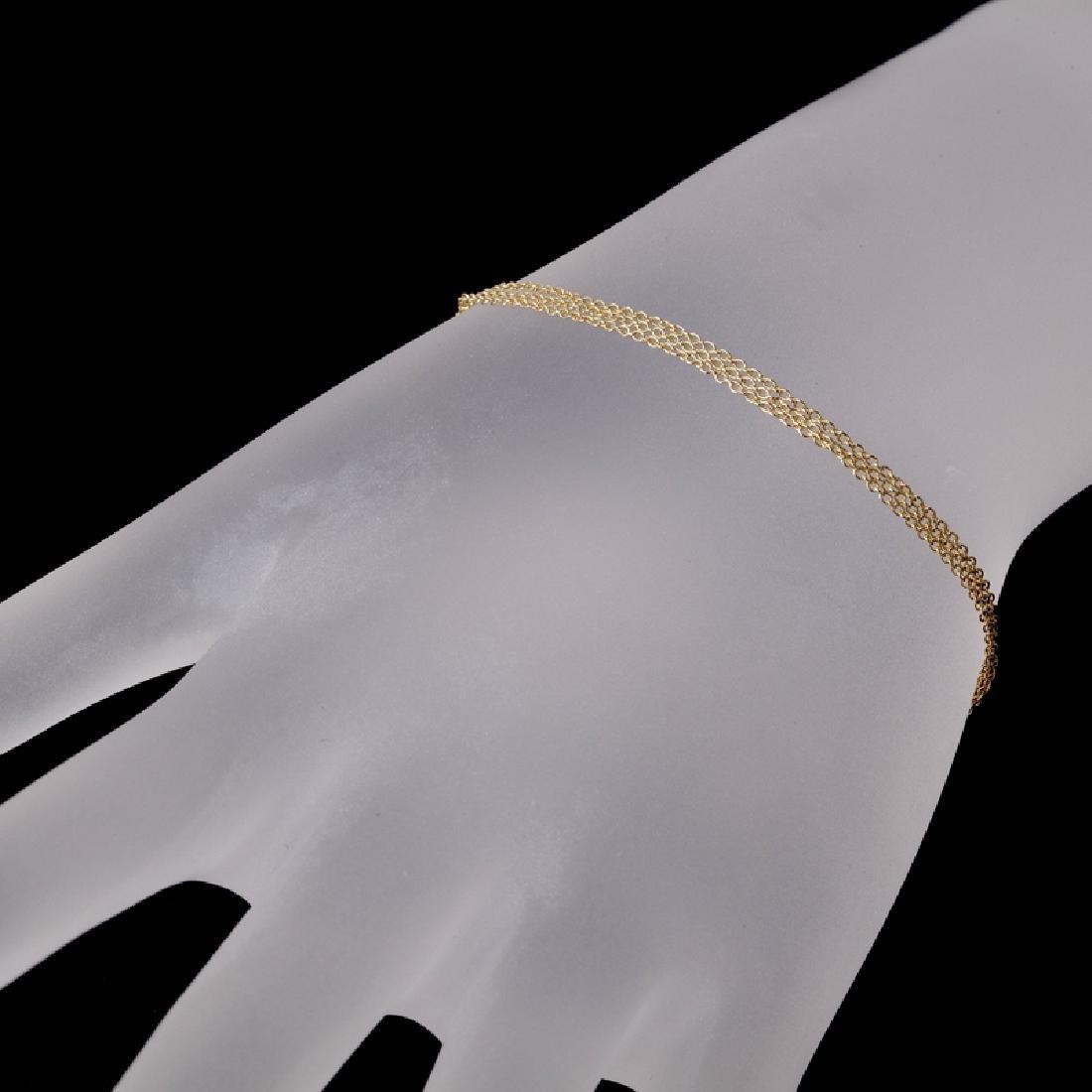*Fine Jewelry 14 KT Gold, 3 Strand 1.5GR, 7'' Oval Link