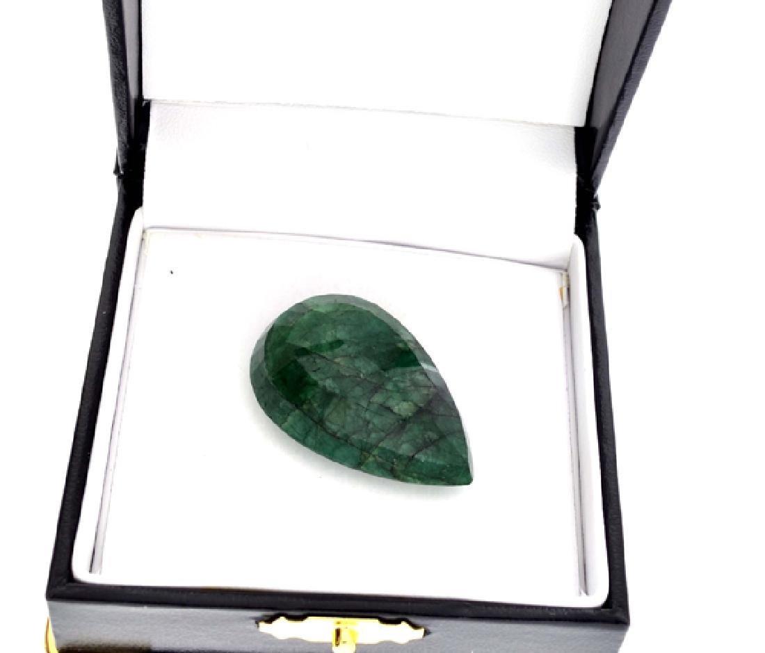 APP: 2.9k 60.50CT Pear Cut Green Beryl Emerald Gemstone - 2