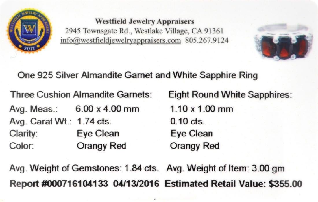 APP: 0.4k Fine Jewelry 1.84CT Almandite Garnet And - 2