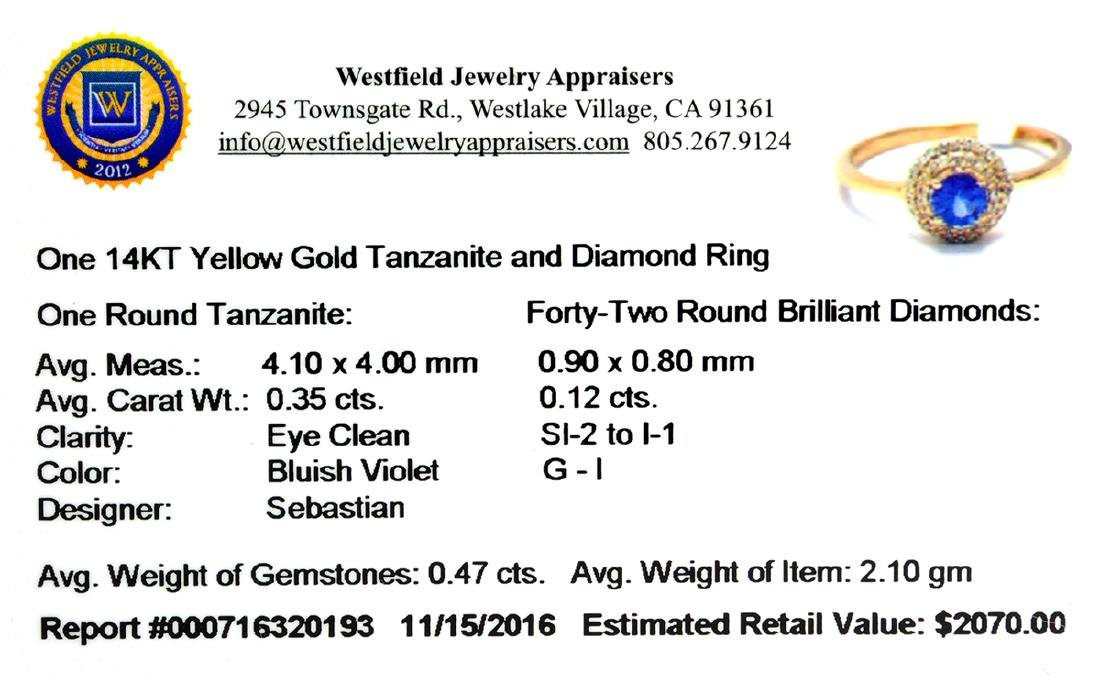 Designer Sebastian 14 KT Gold 0.35CT Round Cut - 2