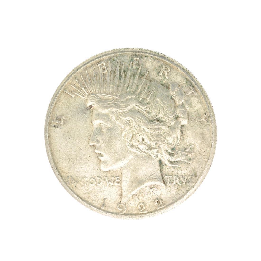 Rare 1922-S U.S. Peace Type Silver Dollar