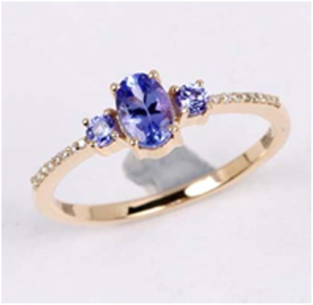 *Fine Jewelry 14K Gold, 2.00CT Tanzanite And White