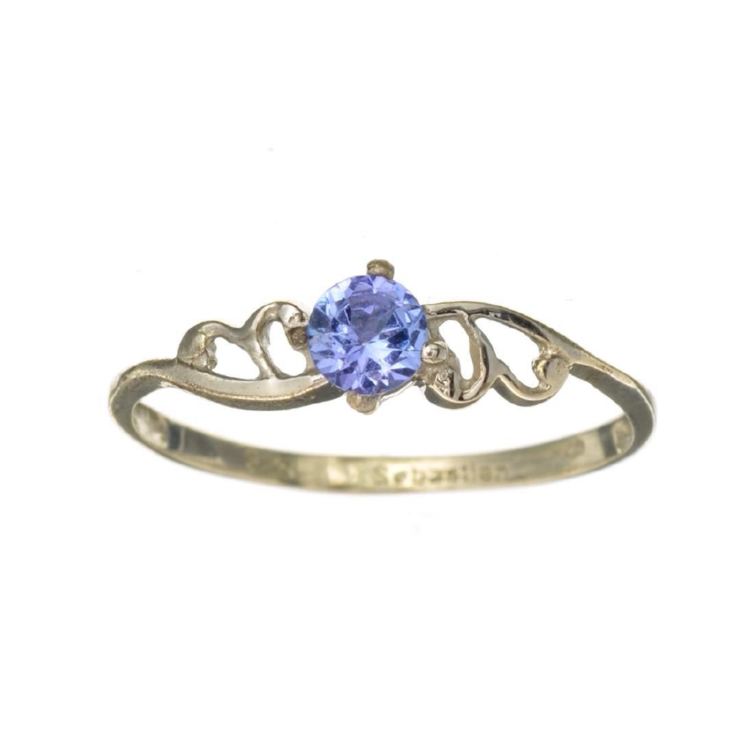 APP: 0.6k Fine Jewelry 0.30CT Round Cut Tanzanite And