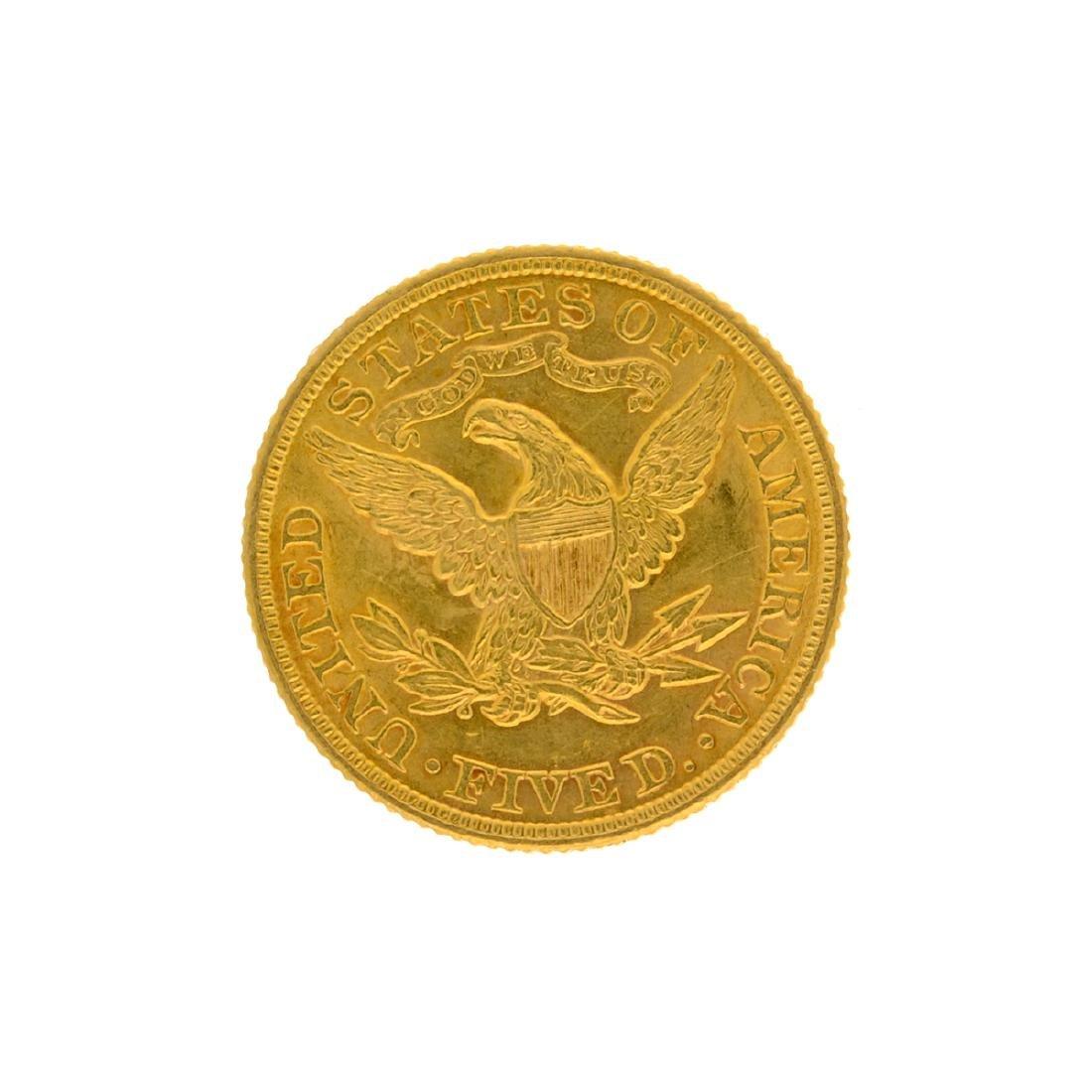 *1899 $5 Liberty Head Gold Coin (DF) - 2