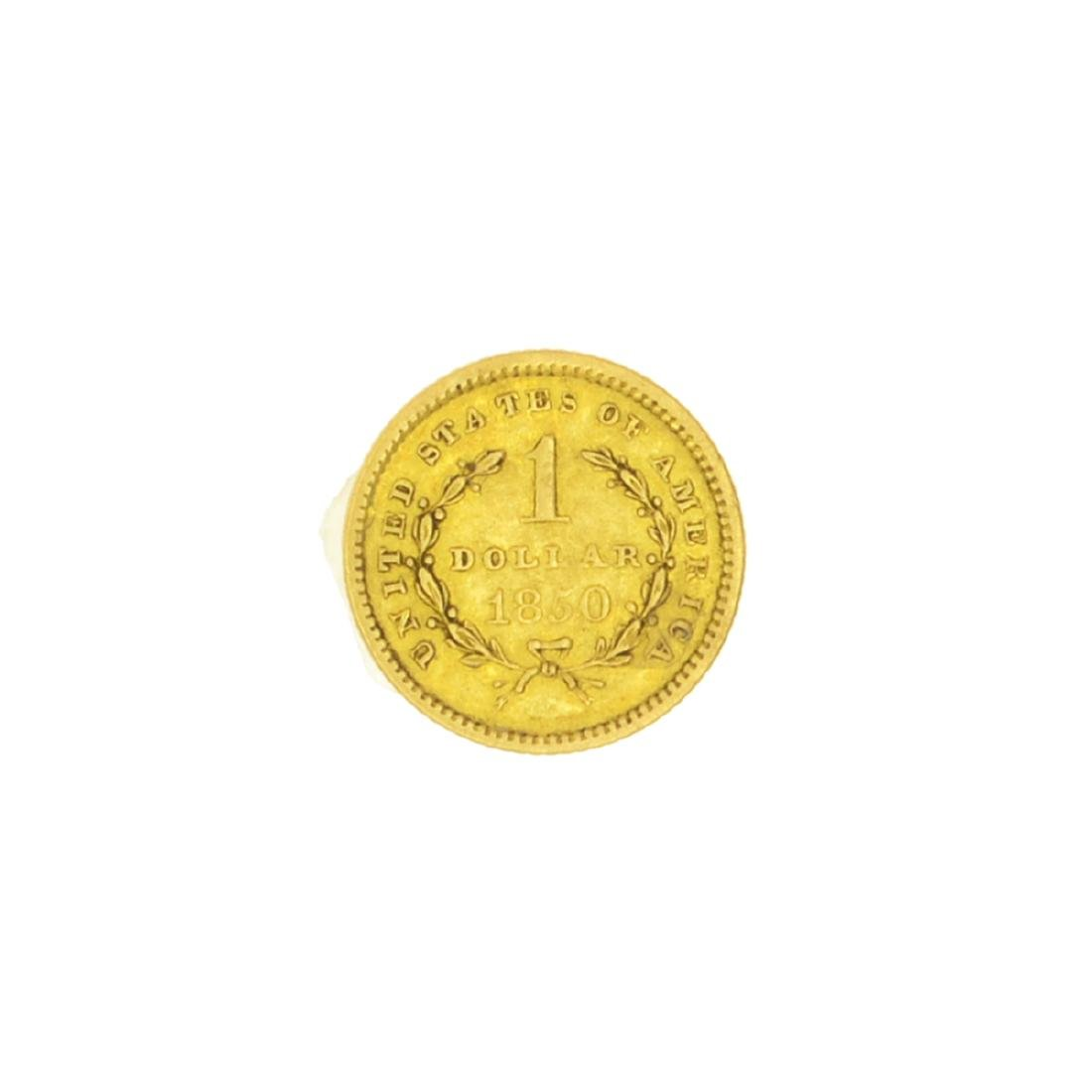 Very Rare 1850 $1 U.S. Liberty Head Gold Coin Great - 2